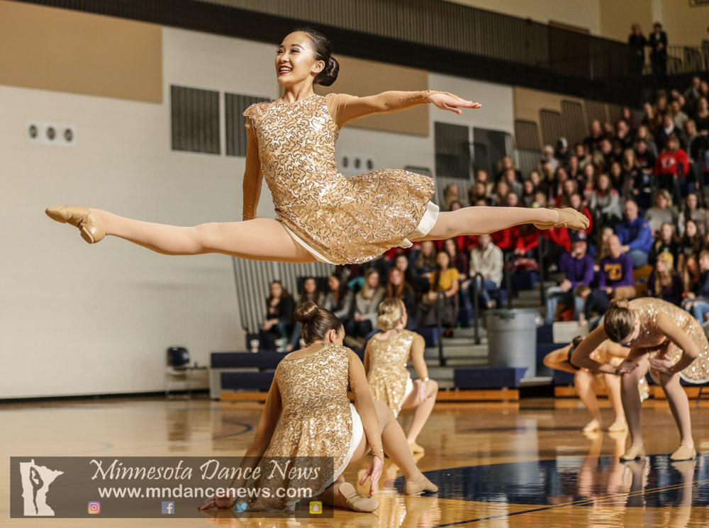 Minnetonka at the Section 2AAA Tournament, Chanhassen High School.(Photo by Rick Corwine/The Minnesota Dance News)